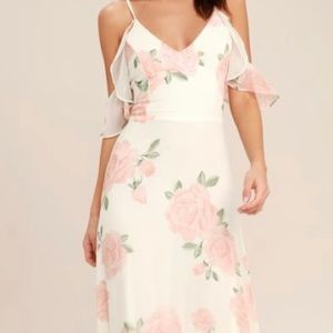 Lulu's Take You There Floral Maxi Dress